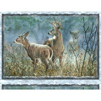 Winter Whispers Deer Panel