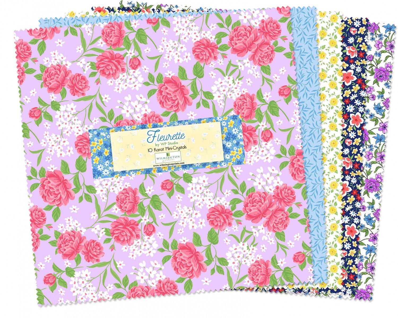 Fleurette 10 inch Squares 24 squares