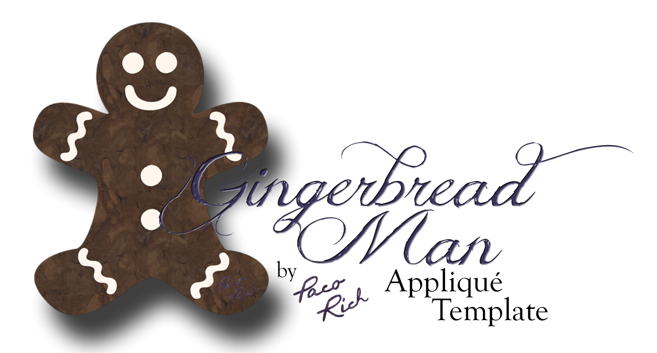 Gingerbread Man Applique Template Only