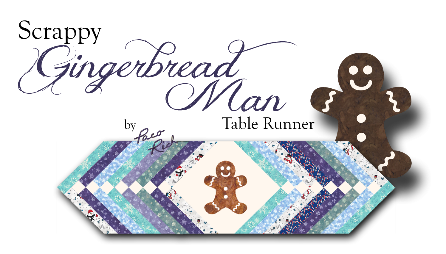 Scrappy Gingerbread Man Table Runner Pattern