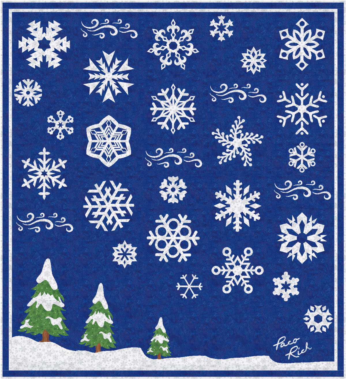 Snowflake Magic Applique Pattern