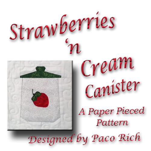 Strawberry Canister Paper Piecing Pattern