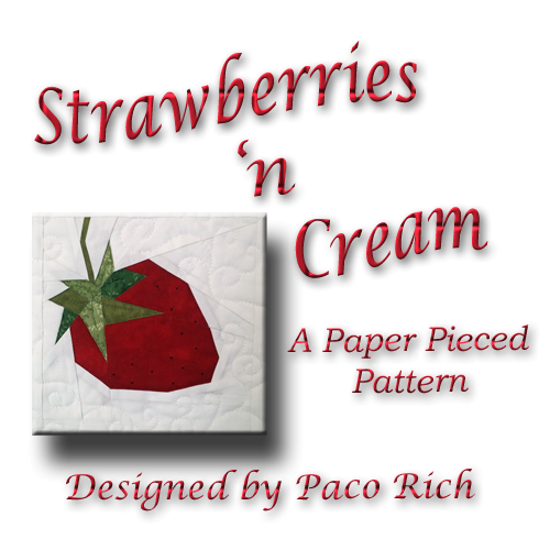 Strawberry Paper Piecing Pattern