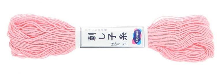 Olympus Sashiko Thread Light Pink #14 20m