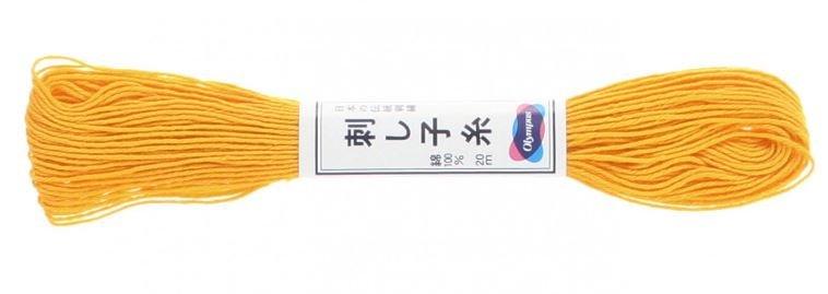 Olympus Sashiko Thread Yellow #16 20m