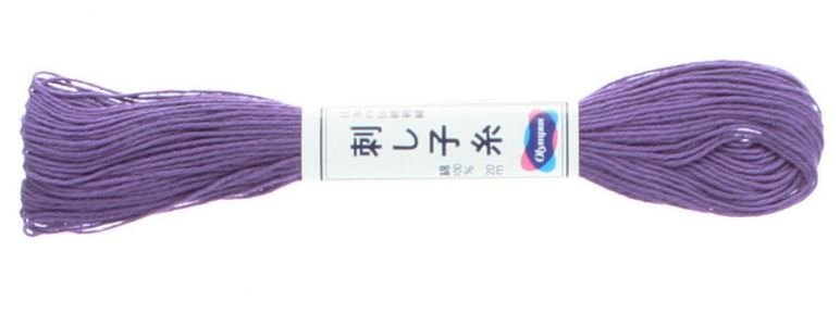 Olympus Sashiko Thread Purple #19 20m