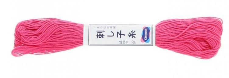 Olympus Sashiko Thread Bright Pink #21 20m