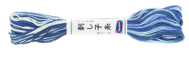 Olympus Sashiko Thread Variegated Blue #52 20m