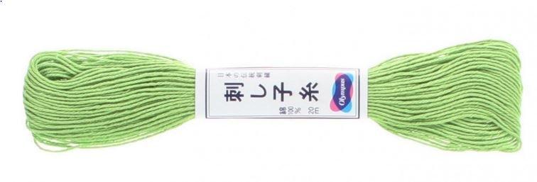 Olympus Sashiko Thread Lime Green #6 20m