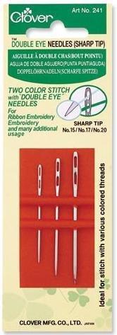 Clover Double Eye Needles (sharp) #241
