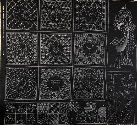 Sashiko Panel Large - Part 6 by Hitomi Fujita