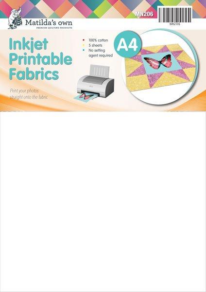 Inkjet Printable Fabrics A4