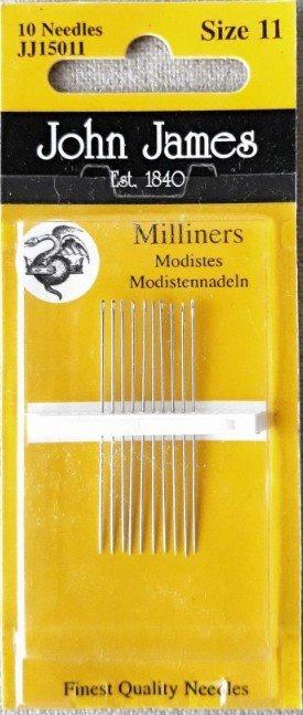 John James Milliners / Straw Needles Size 11 16ct