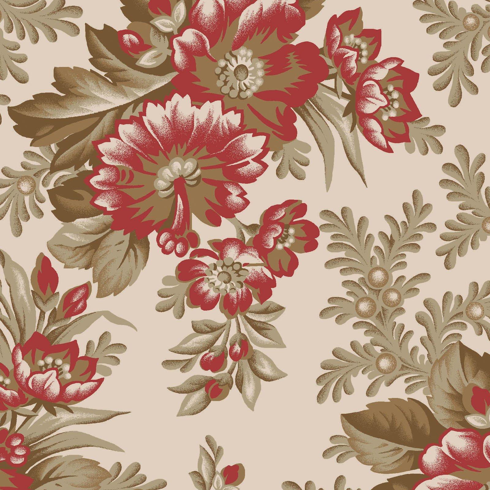 Ruby - Elegant Floral - Tan