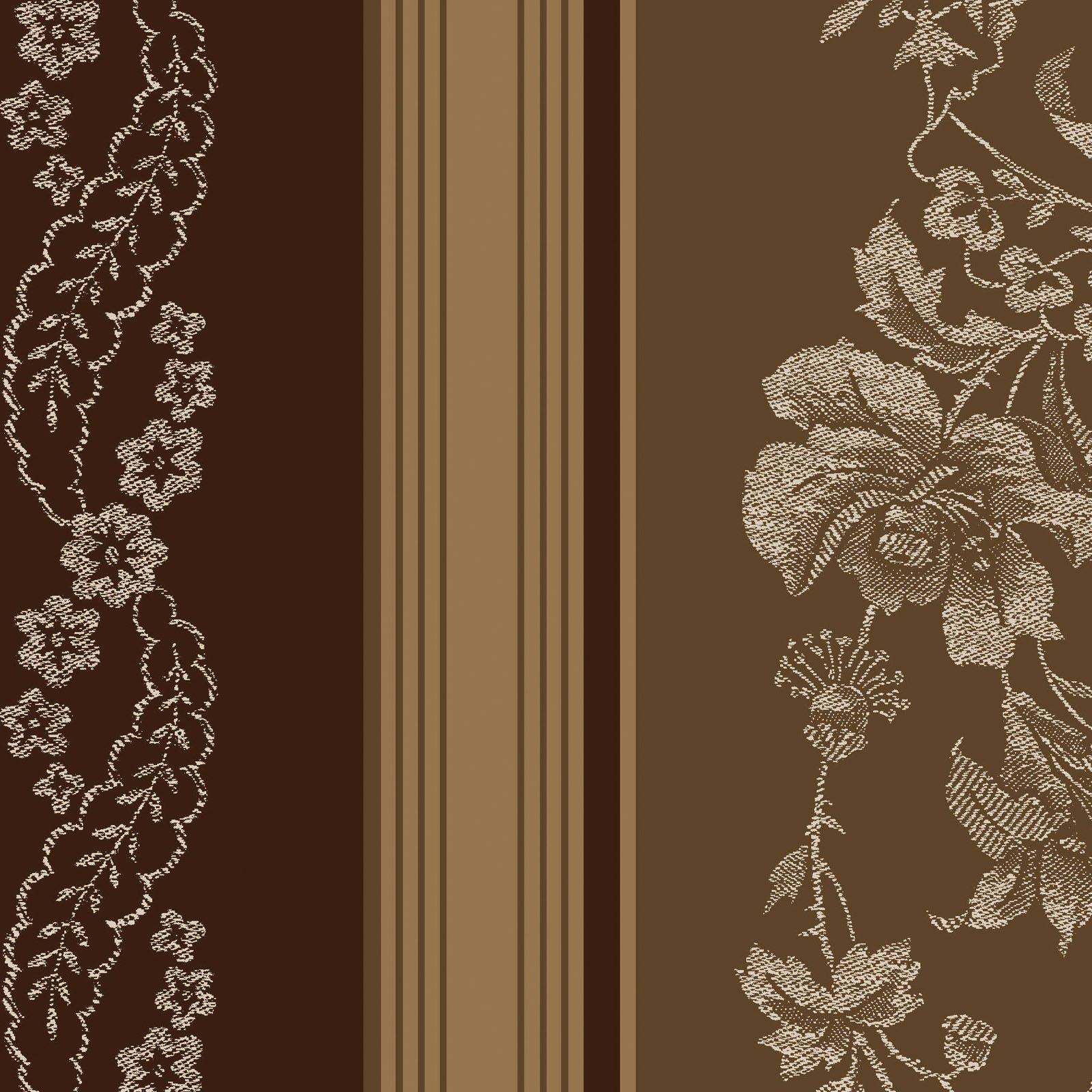 Ruby - Jacquard Texture Stripe -Brown