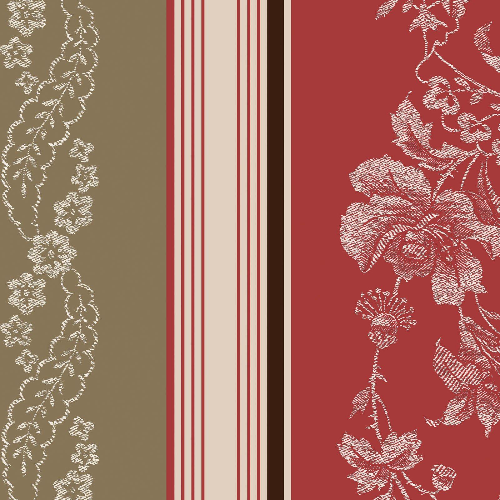 Ruby - Jacquard Texture Stripe - Tan/Red