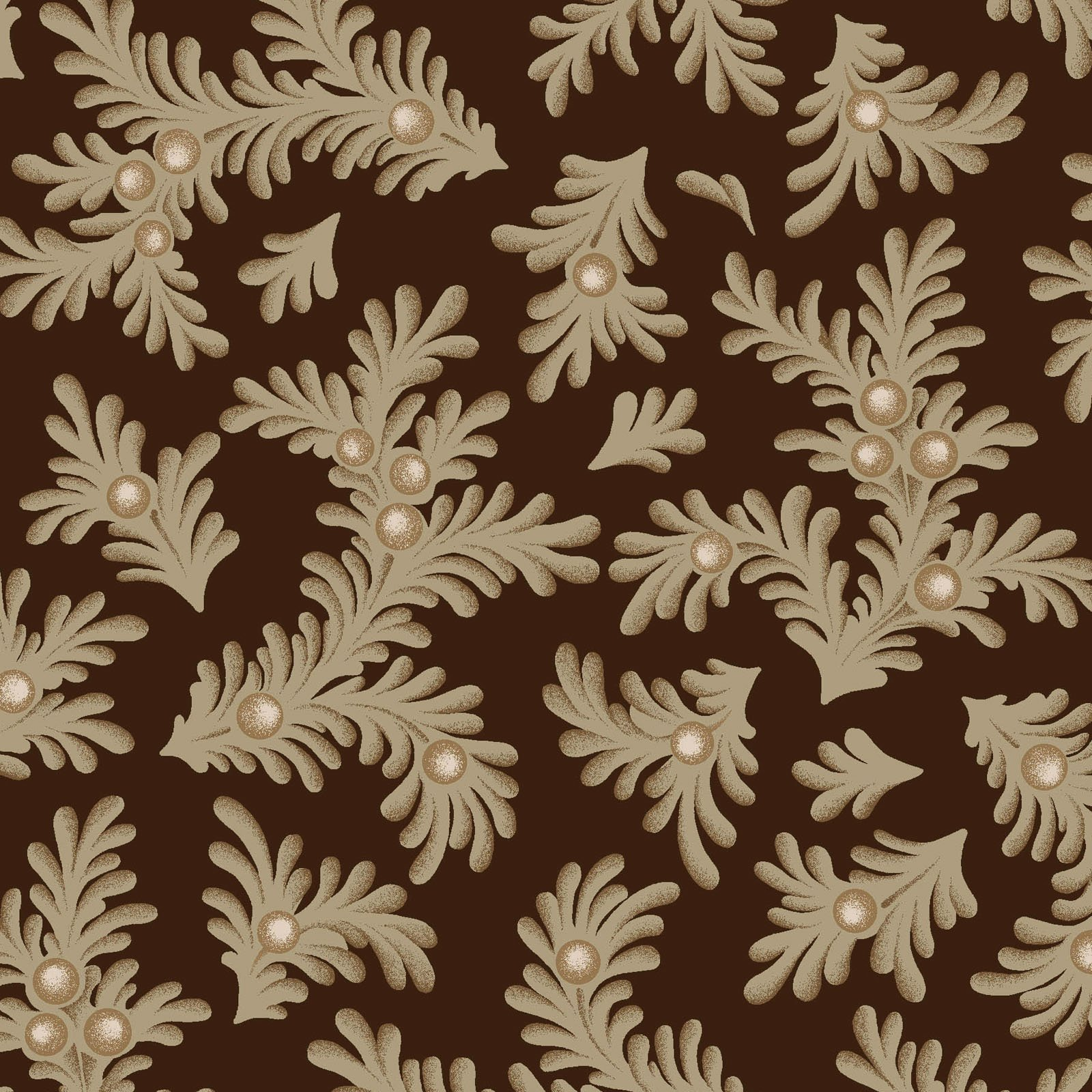 Ruby - Feathered Leaves - Espresso