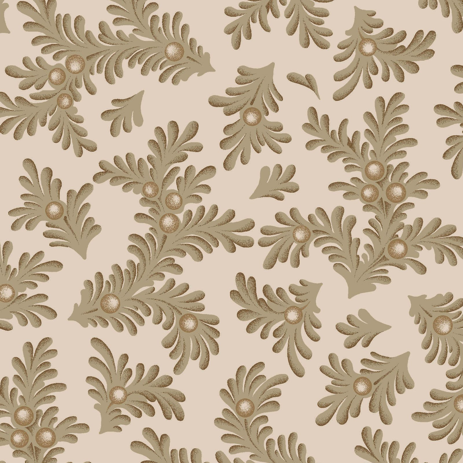 Ruby - Feathered Leaves - Tan
