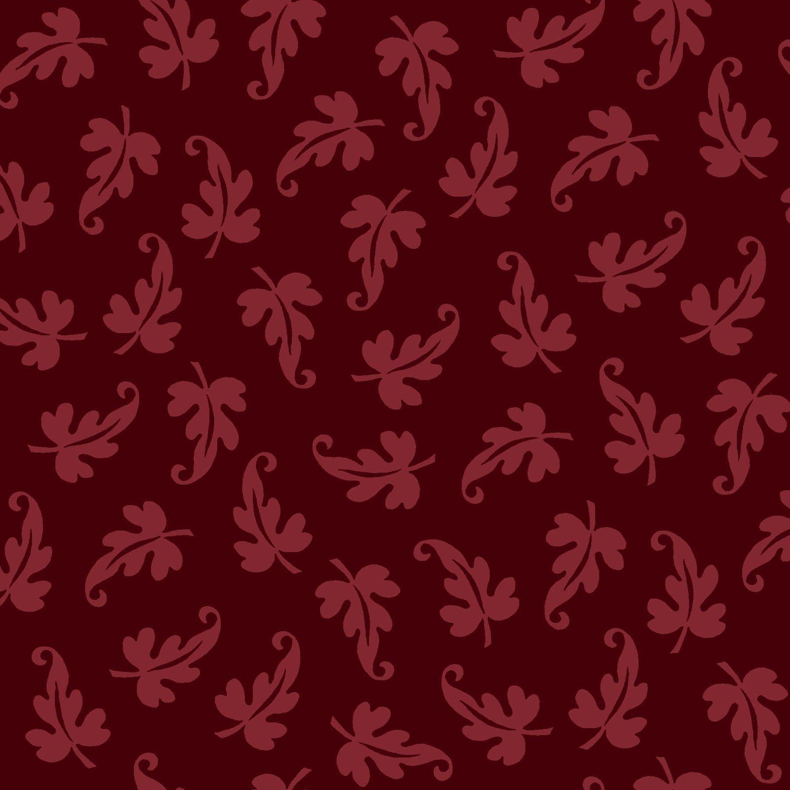 Ruby - Scroll Leaf - Red