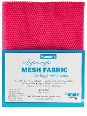 Lightweight Mesh Fabric 18 x 54 Lipstick