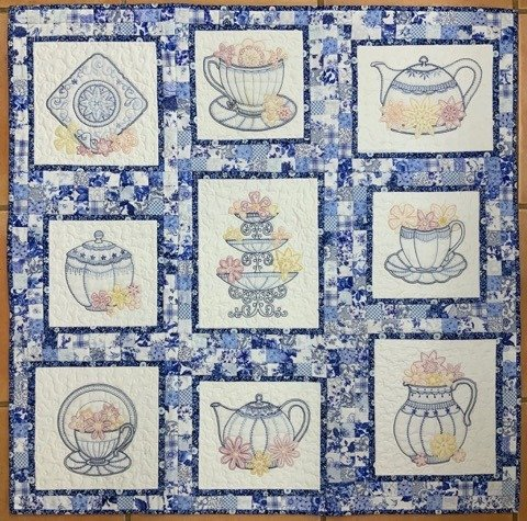 The Tea Party - block of the month pattern set
