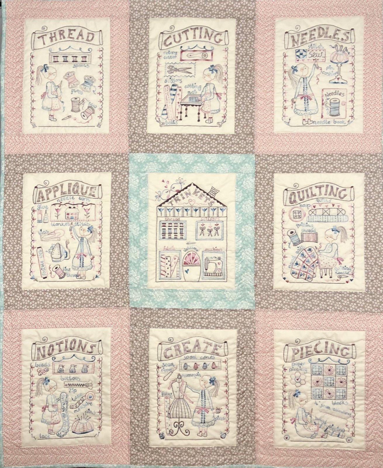 Vintage Sewing Room - Complete pattern set