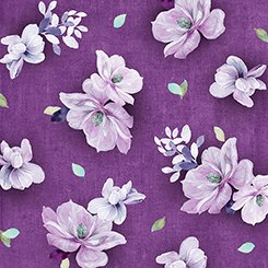 Tossed Flowers - Plum