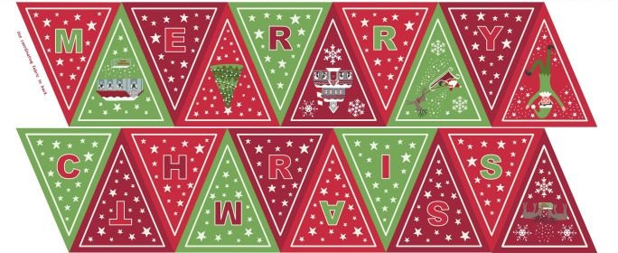 Christmas Glow Green/Red Bunting