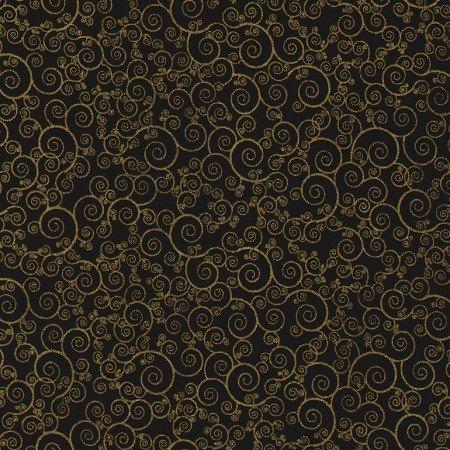 Scroll Metallic - Black