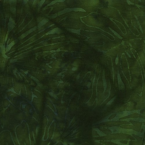 Rayon Batik - Emerald Fern