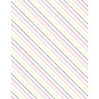 One Sheep, Two Sheep - Diagonal Stripe - White