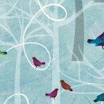 Autumn Hues - Birds - Blue