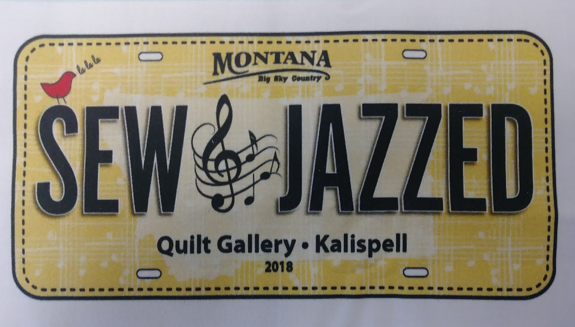 Sew Jazzed 2018 License Plate