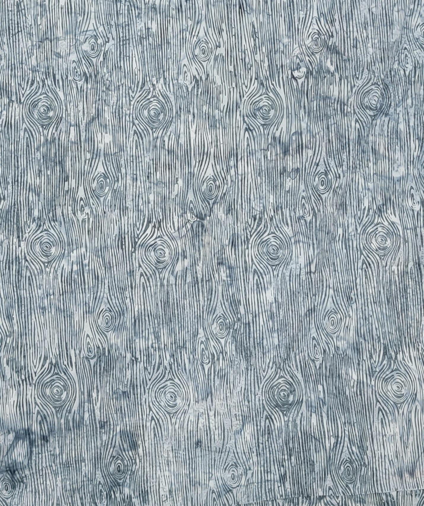 Hoffman R2235-76 Pewter Wood Grain Batik