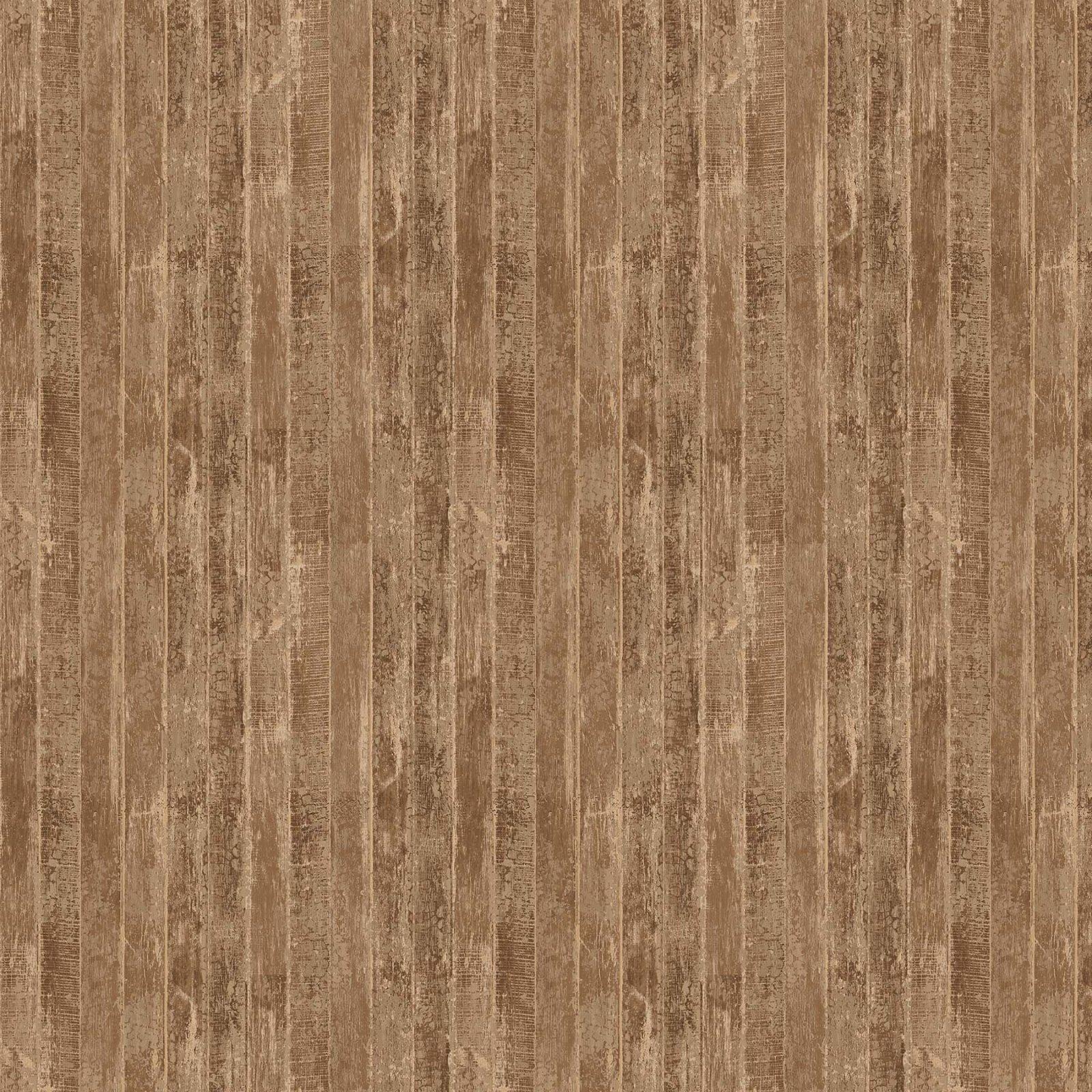 Northcott - Alpine Winter - Wood Grain Bron 24338-34