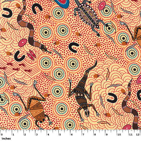 M&S Textiles Around the Waterhole Ecru