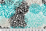 Shannon Minky Cuddle Blooms teal