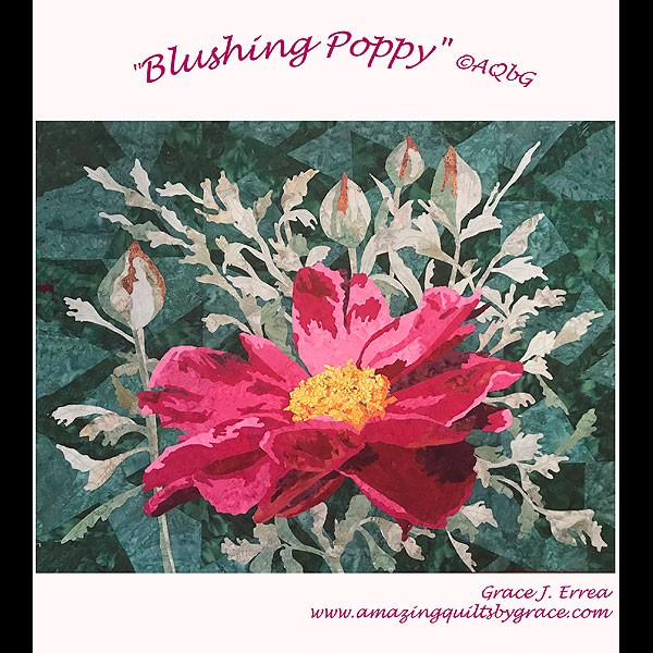 Blushing Poppy Pattern by Grace Errea
