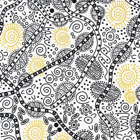 M&S Textiles Bush Tucker White