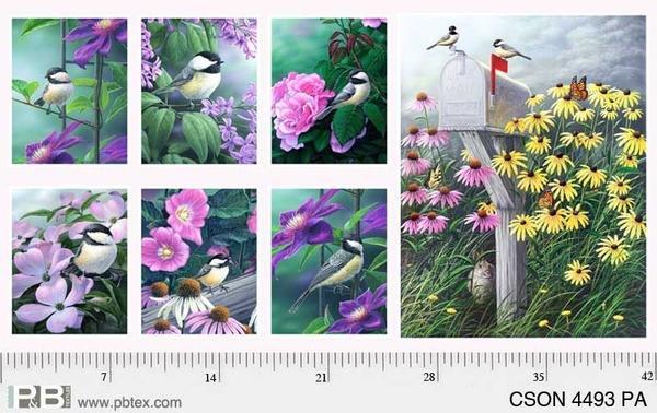 P&B Textiles - Chickadee Songbird - Panel - CSON04493