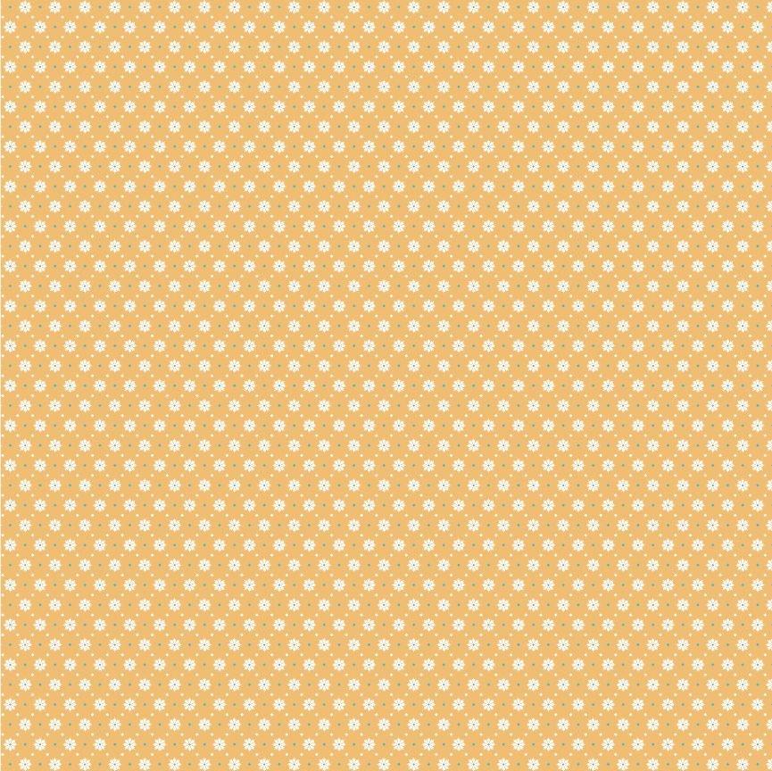 Poppie Cotton Chick-a-doodle-doo Florets Yellow