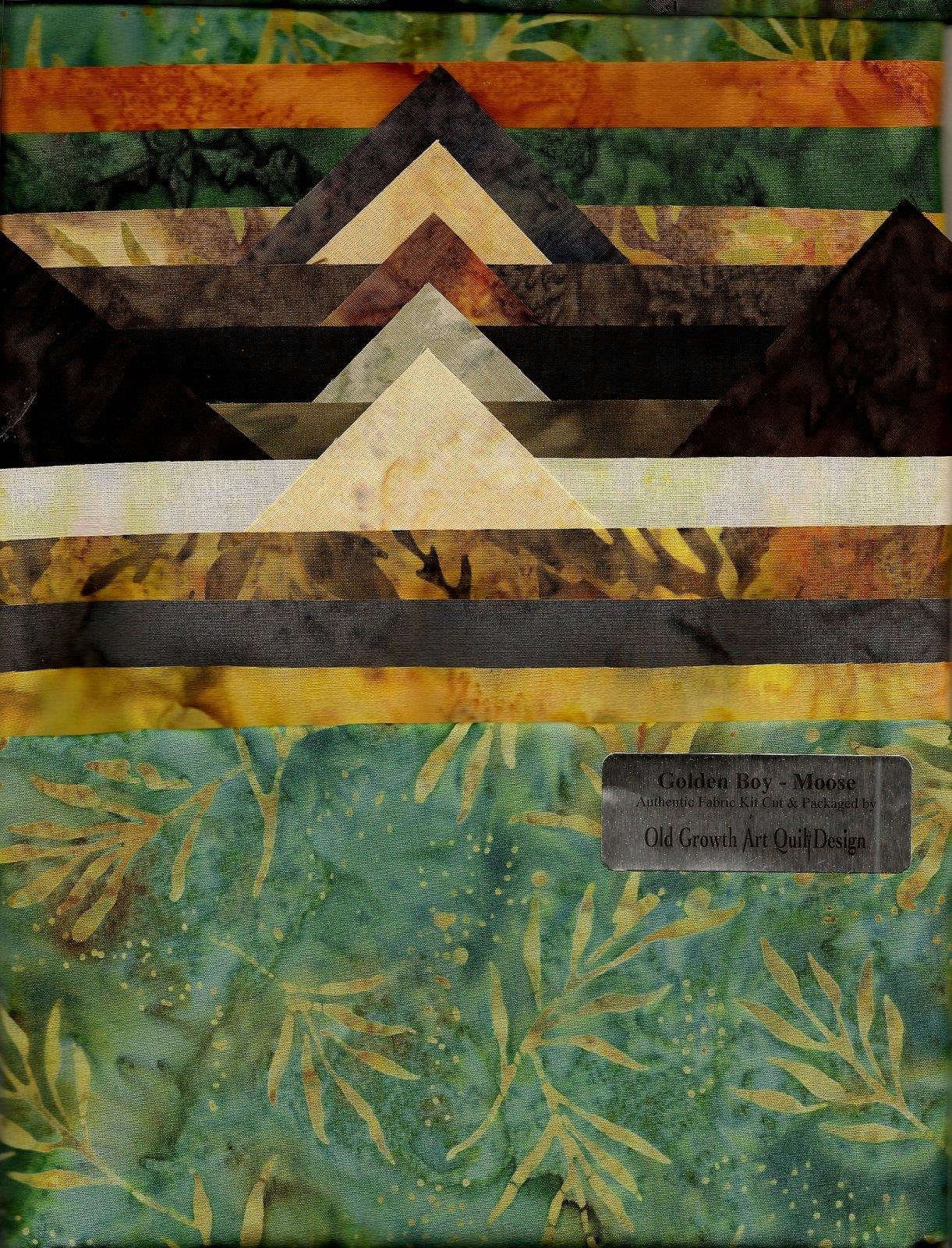 Golden Boy Moose Fabric Kit