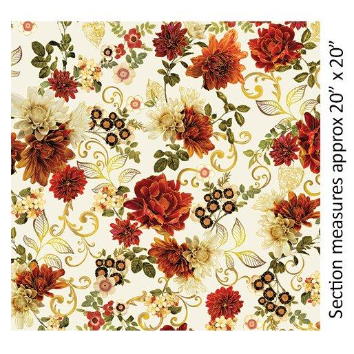 Benartex Harvest Gold Garden by Kanvas - Cream (7770M-07)