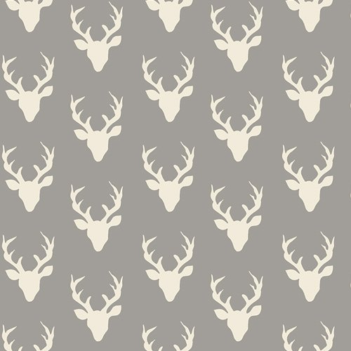Art Gallery Fabric Hello Bear HBR-4440 Tiny Buck Forest Mist