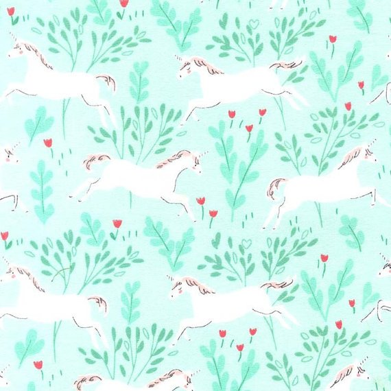 Michael Miller Flannel Unicorn Forest