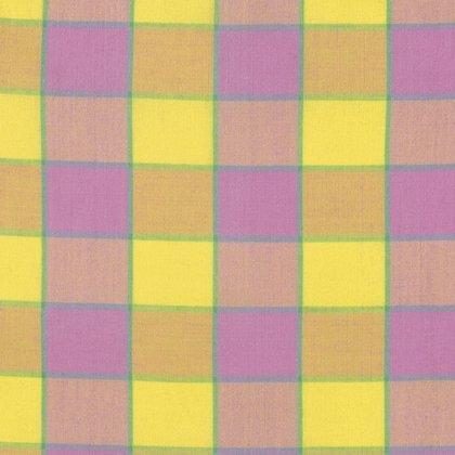 Kaffe Fassett-Checkerboard Plaid Ikat-Pink