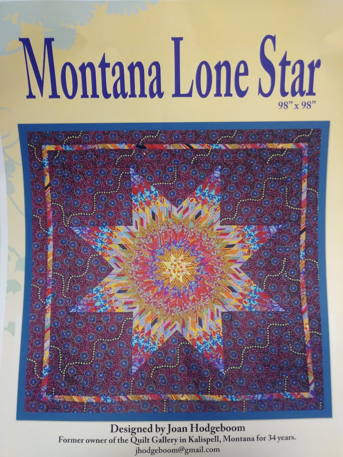 Montana Lone Star Pattern by Joan Hodgeboom