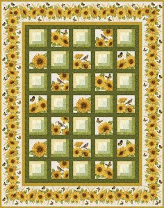 Snappy Sunflower Quilt Kit by Jackie Robinson