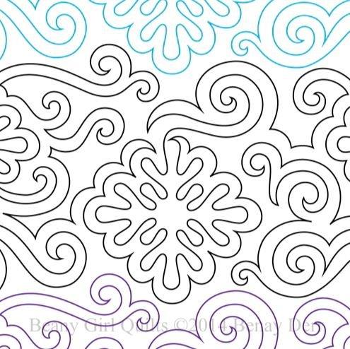 Willow Creek Studio Swirly Snowflake Pantograph