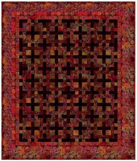 Tapestry by Jason Yenter Quilt Kit, Exotic Spice